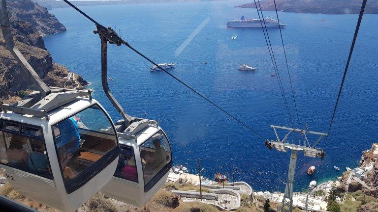 Subida a Fira desde el viejo puerto (Santorini). © Ingenio de Contenidos.