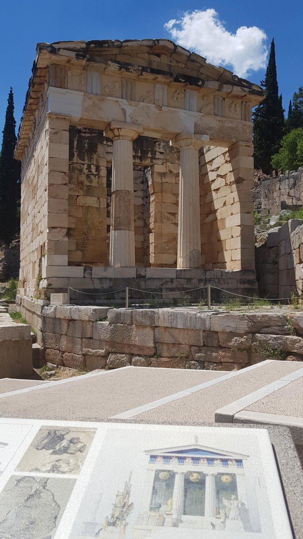 Tesoro Ateniense (Delfos). ©Ingenio de Contenidos.